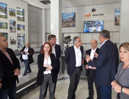 Επίσκεψη του Υπουργού Εσωτερικών Πάνου Σκουρλέτη στο Δημαρχείο Καλαμπάκας και στο Κέντρο Τουριστικής Πληροφόρησης
